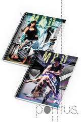 Caderno espiral A5 Music Dance 80f quadriculado