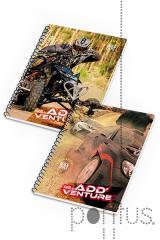 Caderno espiral A5 Add`Venture 80f quadriculado