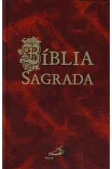 Bíblia sagrada de bolso (bordeaux)