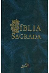 Bíblia sagrada de bolso (azul)