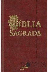 Bíblia Sagrada Paulus (média encadernada bordeaux)