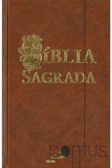 Bíblia Sagrada Paulus (média encadernada castanho)
