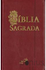 Bíblia Sagrada Paulus (média flexível bordeaux)