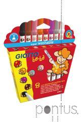 Super marcador Giotto be-bè c/8 cores muda de cor