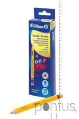 Lápis Pelikan nº2 / HB jumbo c/borracha