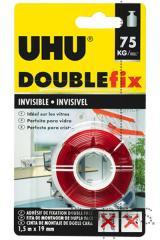 Fita UHU bi-adesiva invisível p/vidros até 75kg