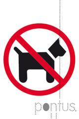Etiquetas Apli permanentes 846 proibido cães