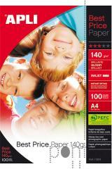 Papel fotográfico Apli best price A4 140g 100f