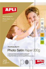 Papel fotográfico Apli photo satin A4 200g 20f