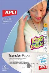 Papel transferência têxtil p/fundo branco A4 10f