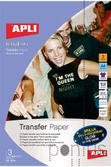 Papel transferência têxtil p/brilhar escuro A4 3f