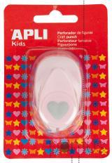 Perfurador Apli p/papel 16mm figura coração