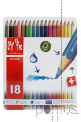 Lápis Fancolor aguarelável cx. metal c/18 cores