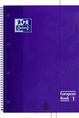 Caderno esp. c/dura Soft touch A4 80f lilás pautad