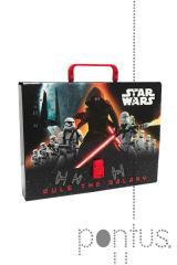 Pasta c/pega Stars Wars 35x5x26cm cartão ref.15922
