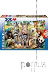 Jogo Educa puzzle Junior 300 a foto da turma