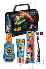 Pasta c/pega Star Wars + kit c/cosmética