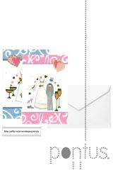 Postais c/envelope oferta noivos ref.676
