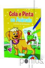 Cola e pinta os animais - Animais de estimação