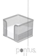 Suporte p/papel em rede prateado 100x100x80mm