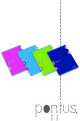 Caderno agraf. Ambar A5 80f Simple Colours quadric