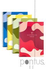 Caderno esp. c/pp Unipapel A4 80f pautado