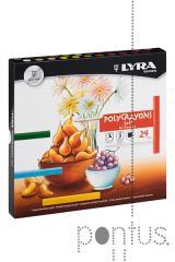 Pastel seco Lyra Polycrayons Soft c/24 cores