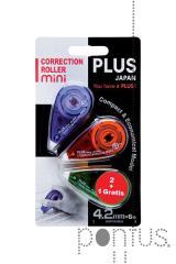 Corretor fita Plus mini 43563 4.2mmx6m blister c/3