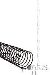 Espiral metálica 12mm preta (100 unid.)