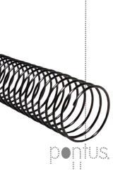 Espiral metálica 16mm preta (100 unid.)
