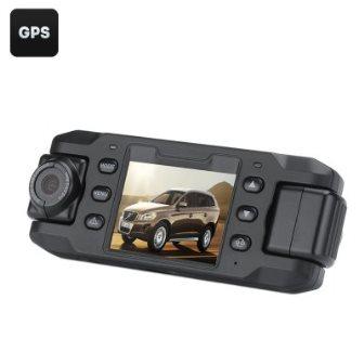 CAMARA TWIN CAM FULL HD CARRO C/SENSOR G E GPS