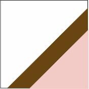 Branco/castanho/rosa
