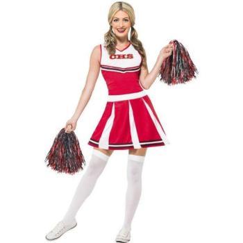 Fato Cheerleader Vermelho 7500b74d08479