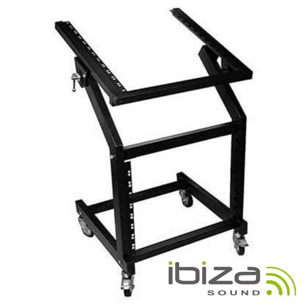 Suporte Rack 19 12u+9u C/ Rodas 50kg Ibiza