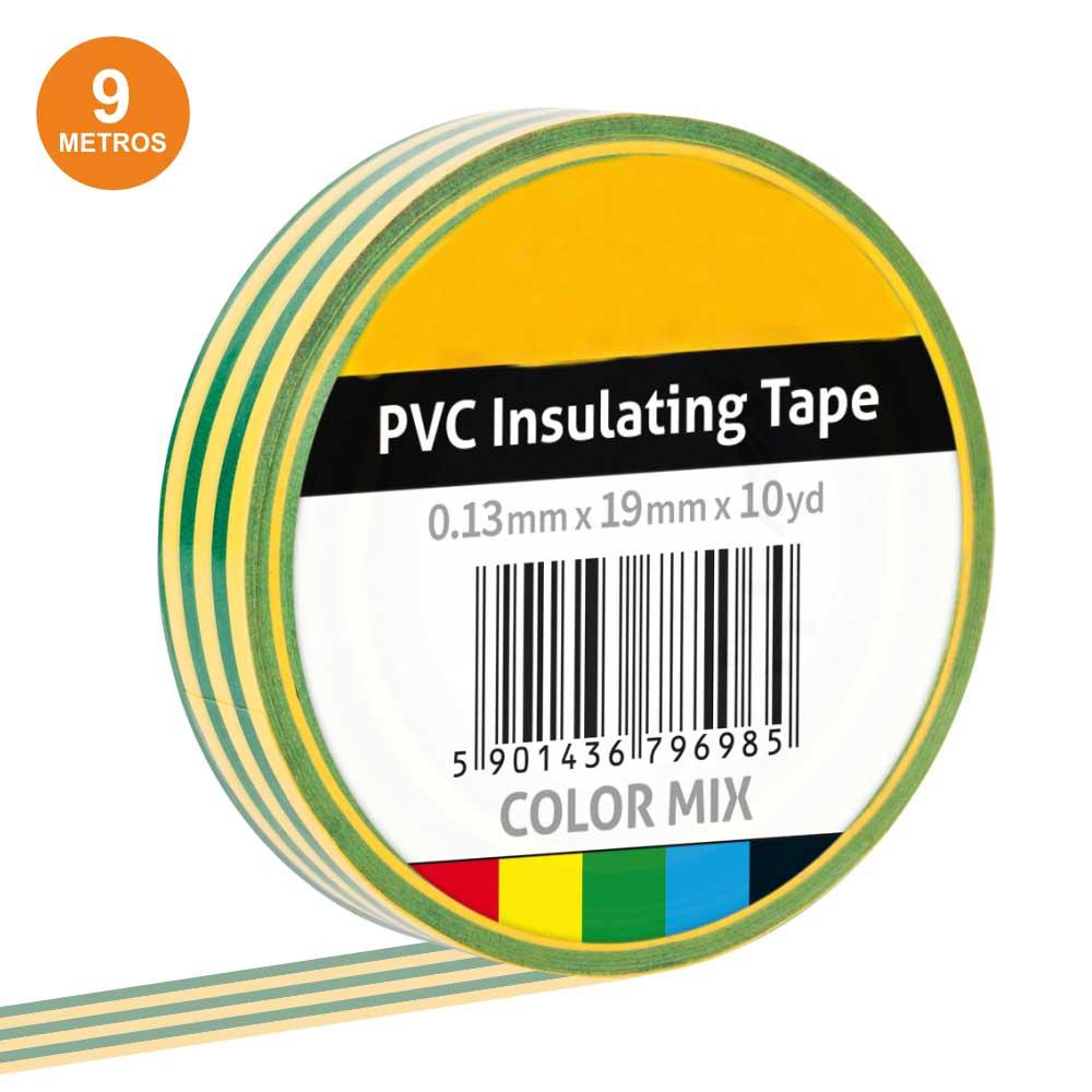 Fita Isoladora Verde/Amarelo 9m
