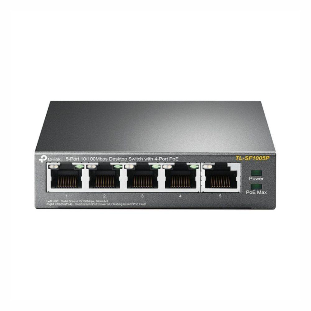 TP-LINK TL-SF1005P Não-gerido Fast Ethernet (10-100) Power over Ethernet (PoE) Preto