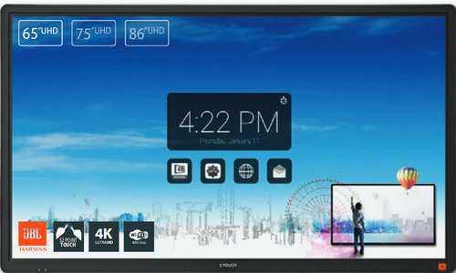 CTOUCH - Laser Nova monitor tactil 86 pol 3840 x 2160 Pixels Multi-touch Preto