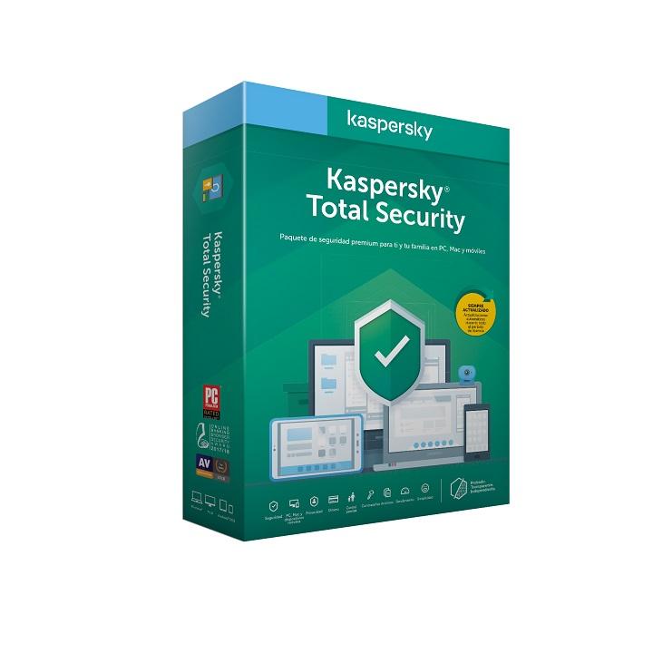 Antivírus Kaspersky Total Security 2020 - 3 Dispositivos - 1 Ano