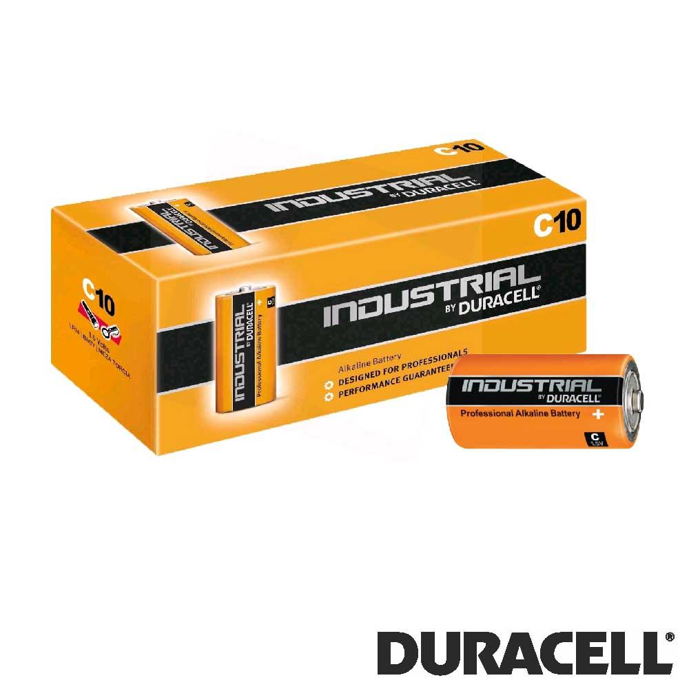 Emb. 10x Pilhas Ind. Alcalinas 1,5V C / LR14 - Duracell INDUSTRIAL