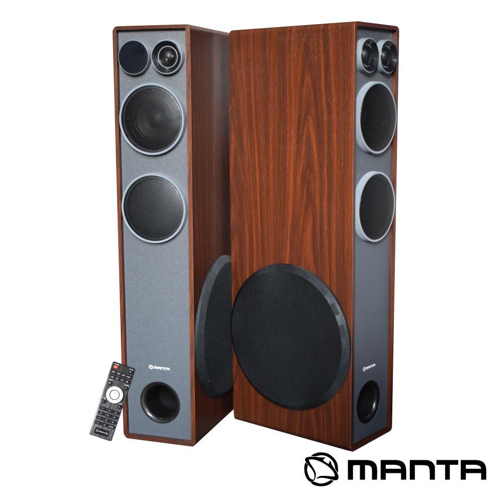 Conjunto 2 Colunas Profissionais BT/USB/Mic/FM MANTA